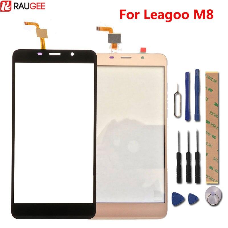 Per Leagoo M8 Touch Screen 100% Nuovo Digitizer Tocco di Vetro del Pannello di Ricambio Per Leagoo M8 Pro Smart Phone in Magazzino