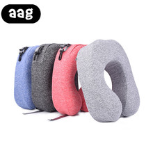 AAG U Shaped Travel Pillow for Airplane Portable Comfort Neck Pillows Health Care Headrest Body Office Flight Car Traveling