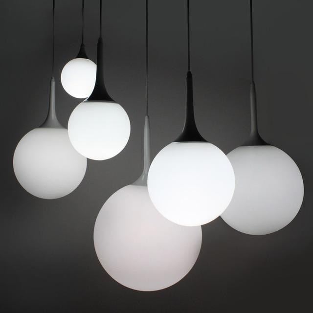 White Round Pendant Light Shapeyourminds Globe Pendants