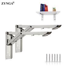 Folding Shelf Brackets Thickened Triangle Bracket,Heavy Duty Stainless Steel Wall Mounted Shelf Bracket DIY Home Table Bench mtgather 2pcs triangular folding bracket metal release catch support bench table folding shelf bracket home best price