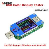 New UM25C UM25 USB 2 0 Type C Color LCD Tester Voltage Current Meter Voltmeter Ammeter