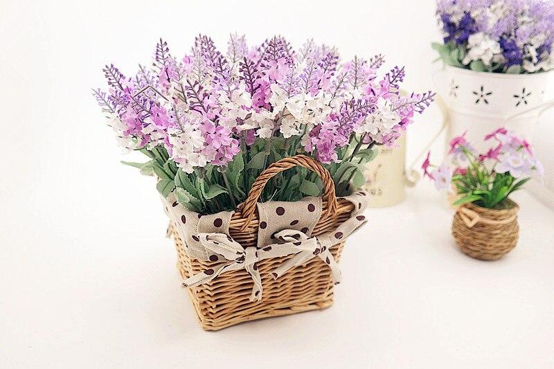 Rattan square basket artificial flower overall floral silk flower handmade lavender - Wedding Depository - HTB1LRqlGFXXXXbJXVXXq6xXFXXXf