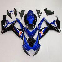 Blue ABS Plastic Bodywork Fairing Cowl Kit For SUZUKI GSXR 600 750 06-07 K6 21B