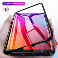 047bdaf9caaf Магнитная адсорбции металлический корпус для samsung S9 защитное стекло  чехол для samsung Galaxy S8 плюс Примечание