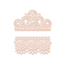 Eastshape Irregular Lace Die Metal Cutting Dies Flower Crown Card Decor Album Making for DIY Scrapbooking Crafts Paper Diecuts