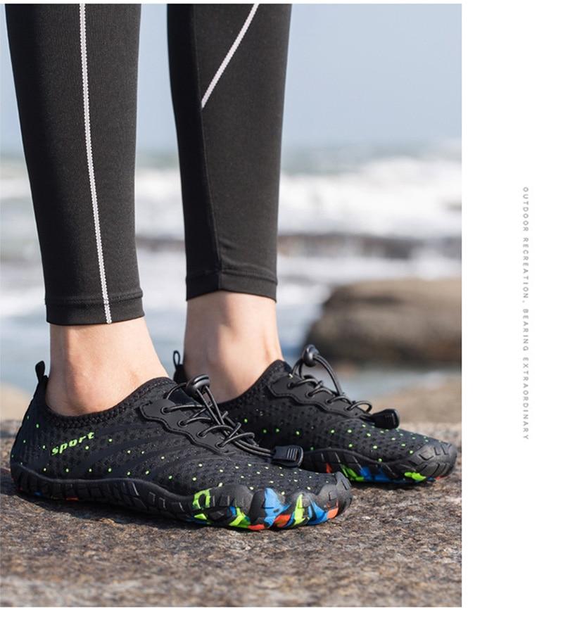 das mulheres sapatos de praia respirável upstream