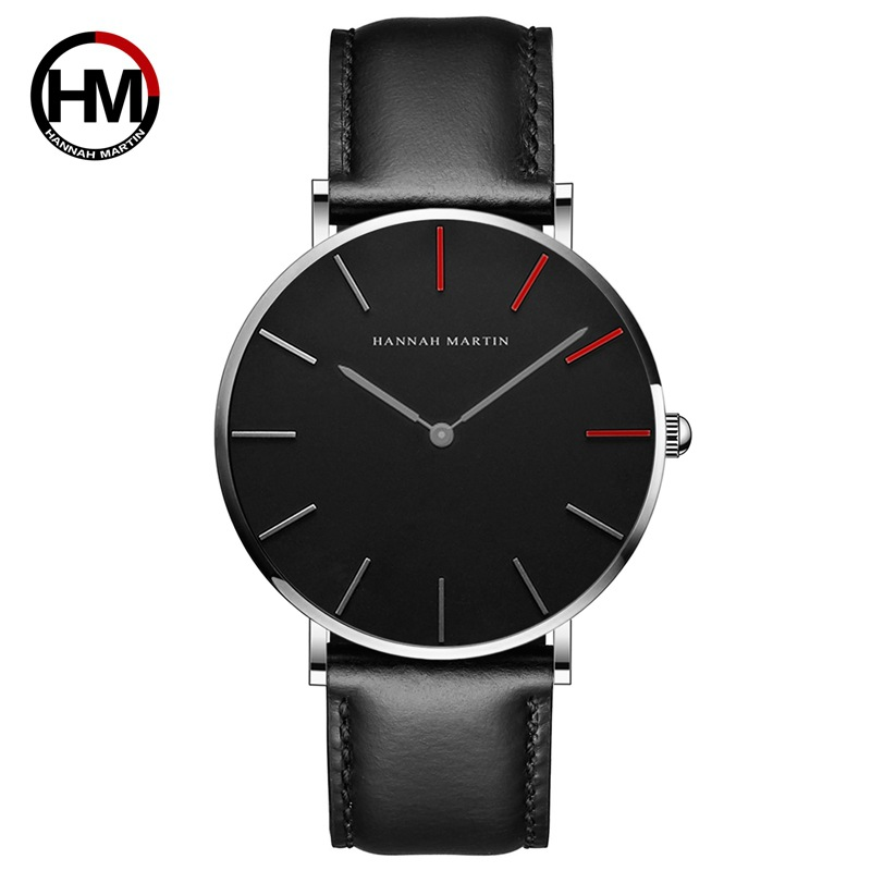 Hannah Martin Men Watches 2019 Japan Movement Leather Nylon Band Male Clock Waterproof Students Watch Montre Homme Relogio