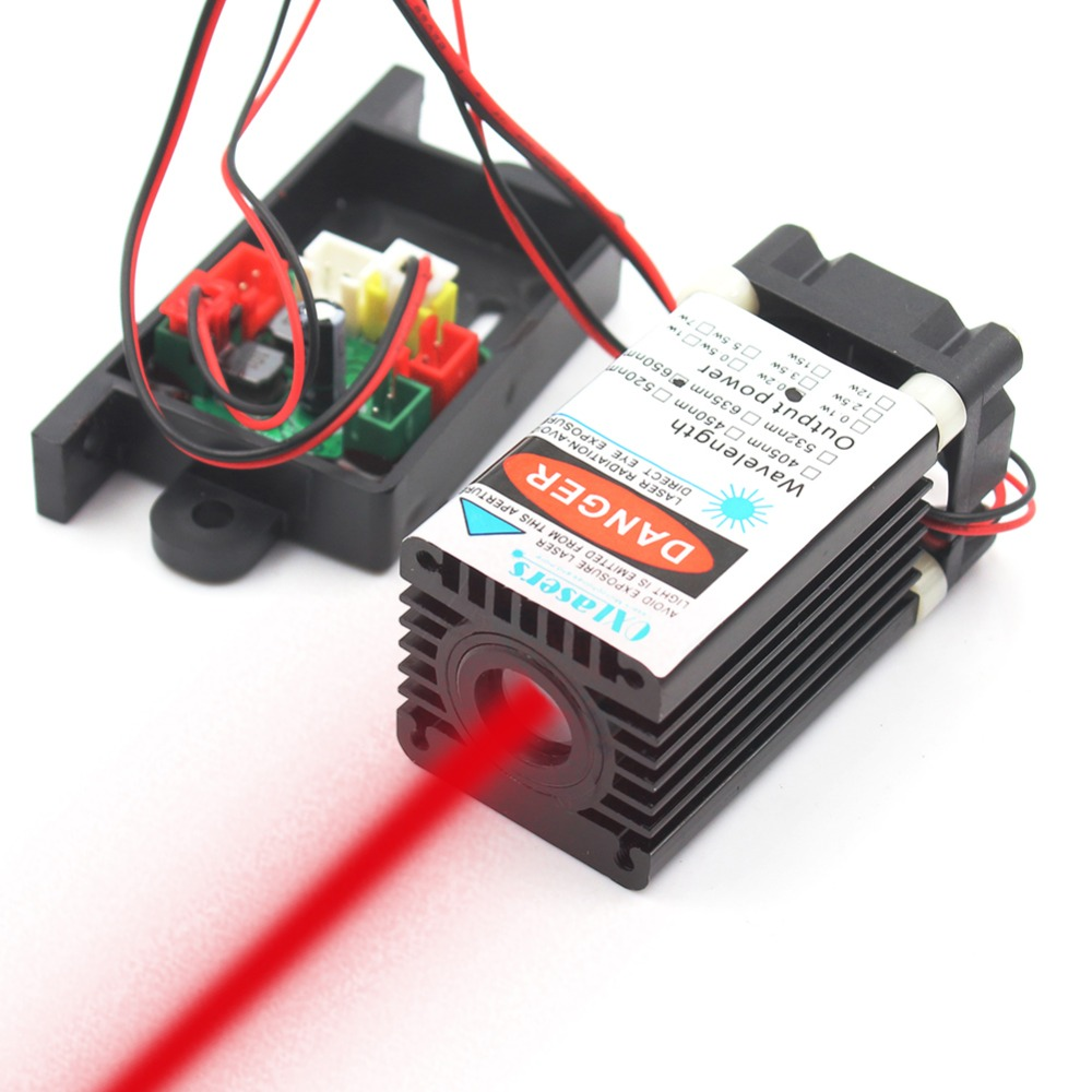 Oxlasers 650nm Red Laser Module 150mW 200mW Red Laser Wide Beam With Cooling Fan And 12V DC Adapter Free Shipping