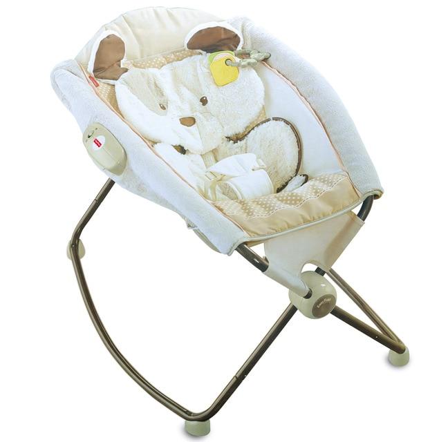 Super Soft Infant Rocking Chair Baby Vibration Cradle Recliner Rocking Bed  Foldable Cradle Bouncer Comfort