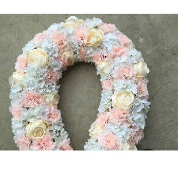 Романтическая роза Арка декорации, свадебное украшение стола центральным цветок вечерние дороги свинцовая дверь Lintel Rose