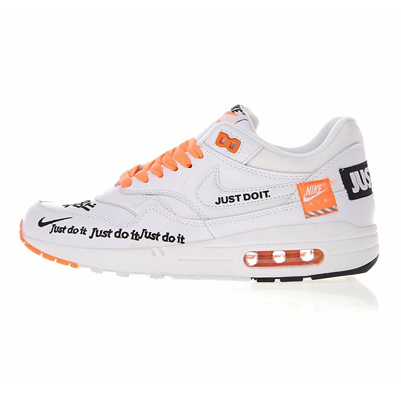 new style 25391 13978 Nike Air Max 1 Just Do It Men s Running Shoes Original Authentic Sport  Outdoor Sneakers Comfortable Durable Breathable 917691