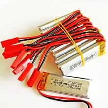 10 X шт 702050 JST SYP 2Pin 3.7 В 700 мАч литий-полимерный lipo Перезаряжаемые Батарея для MP3 наушников Pad DVD Bluetooth камеры