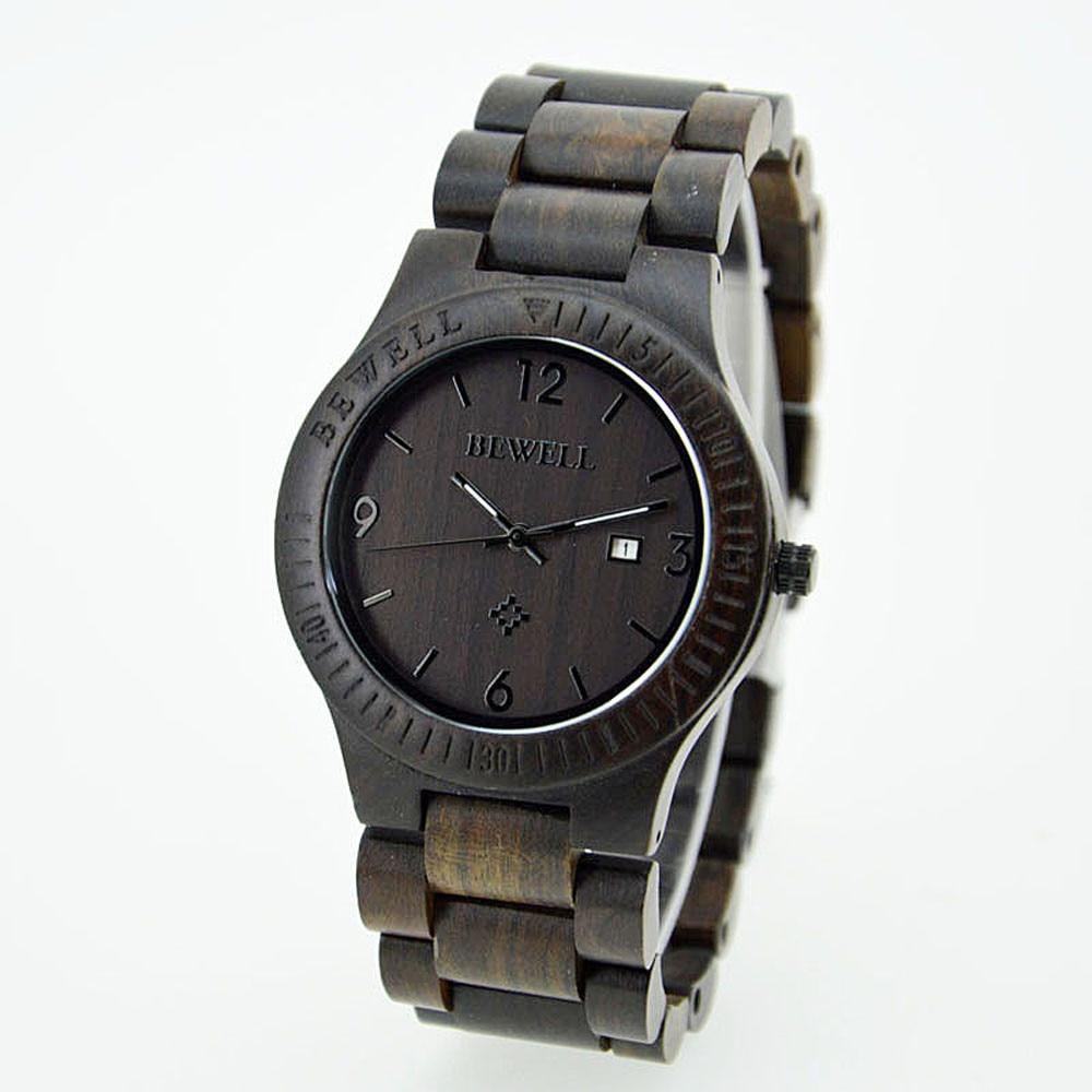 Hot Sale Bewell Natural RoseWood Watch Men's Wrist Quartz Bracelet Business Watch erkek kol saati reloj hombre montre horloges водолазки и лонгсливы zeyland кофта для девочки 72z4tav61