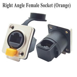 Image 4 - 10pcs/lot Waterproof RJ45 Female Panel Mount Straight/Right Angle 8P8C RJ45 Ethernet Plug Jack Socket IP65 Waterproof Connector