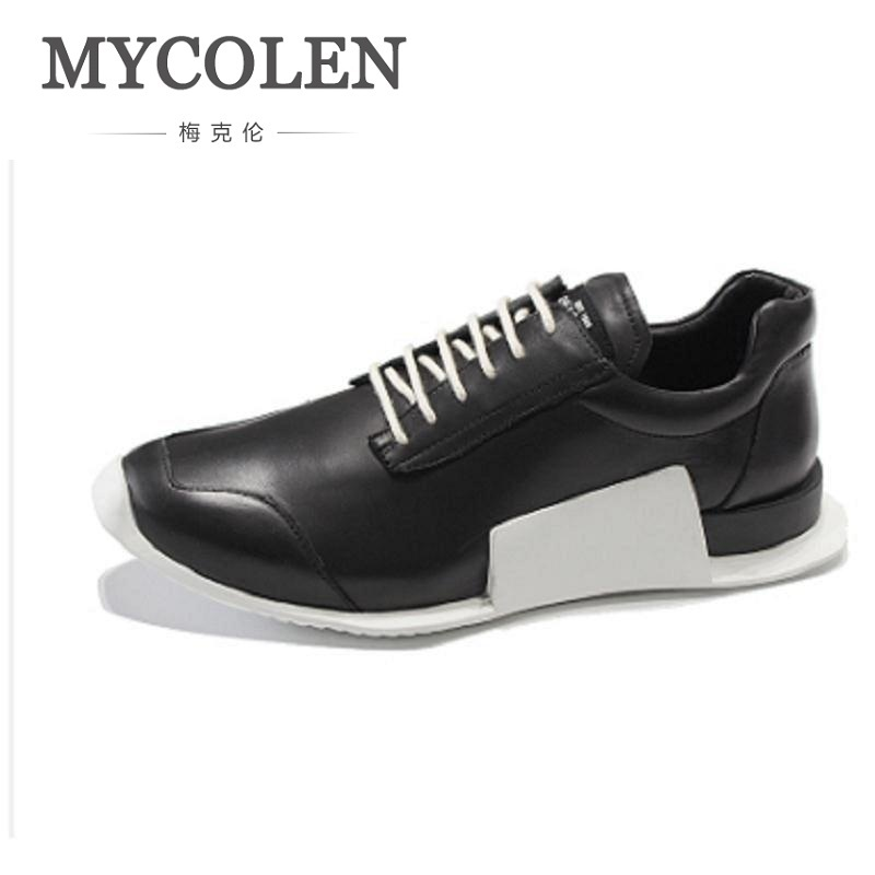 MYCOLEN Men Shoes Lace Up Fashion Leather Spring Autumn Casual Shoes For Male Designer Comfortable Footwear Zapatos De Hombre klywoo new white fasion shoes men casual shoes spring men driving shoes leather breathable comfortable lace up zapatos hombre