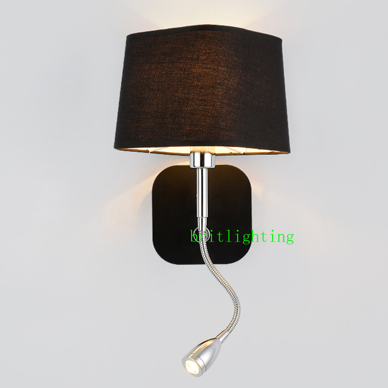 Hotel Bedside wall sconce with led reading light Bedroom night light ...