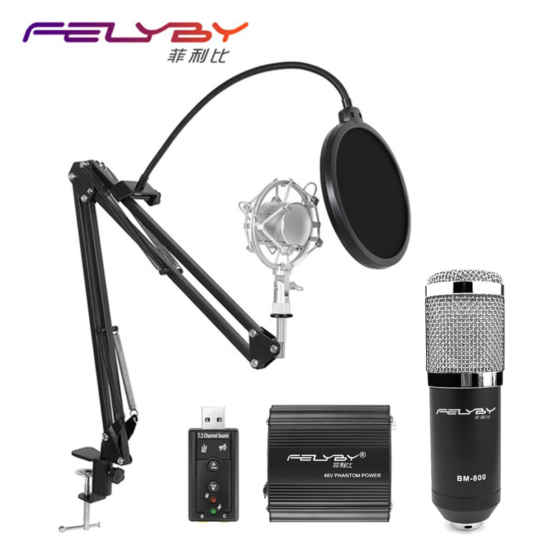 2017 condenser BM-800 professional KTV heart vocal microphone & professional audio recording karaoke microphone