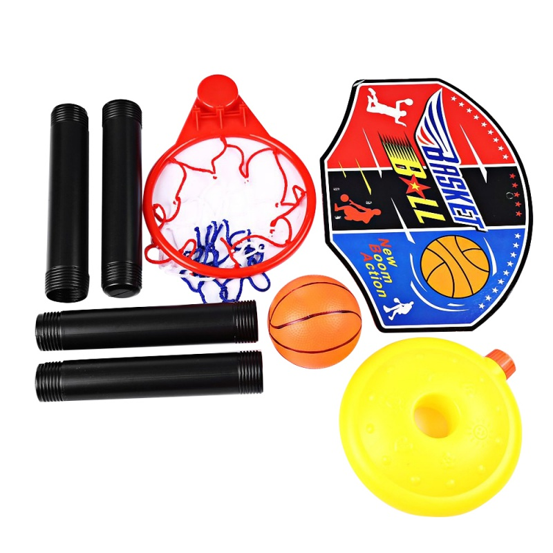 Kids Sport Basketball Stand Adjustable Outdoor Indoor Sports Train Basketball Hoop Toy Set Stand Ball Backboard Net