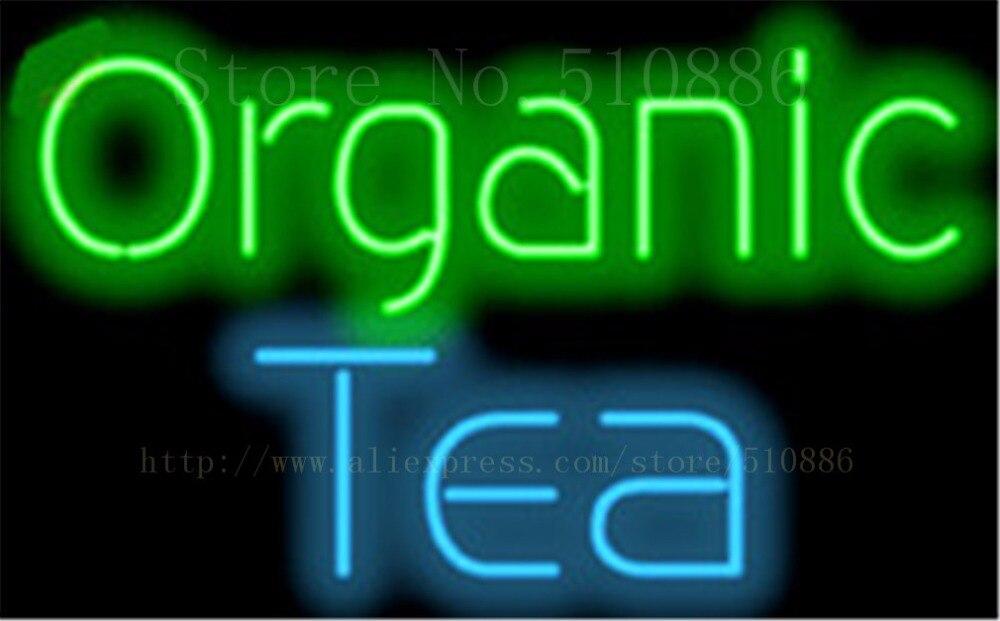 "Organic Tea  Drinks Neon sign Glass Tubes Light Bar Beer Club Custom Neon signs Bulb Store Decoration Signboard signage 17""x14"