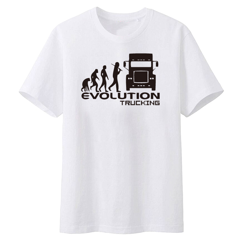 Brand Clothing EVOLUTION TRUCKING truck driver cab gift ideas Funny T Shirt Men Short Sleeve