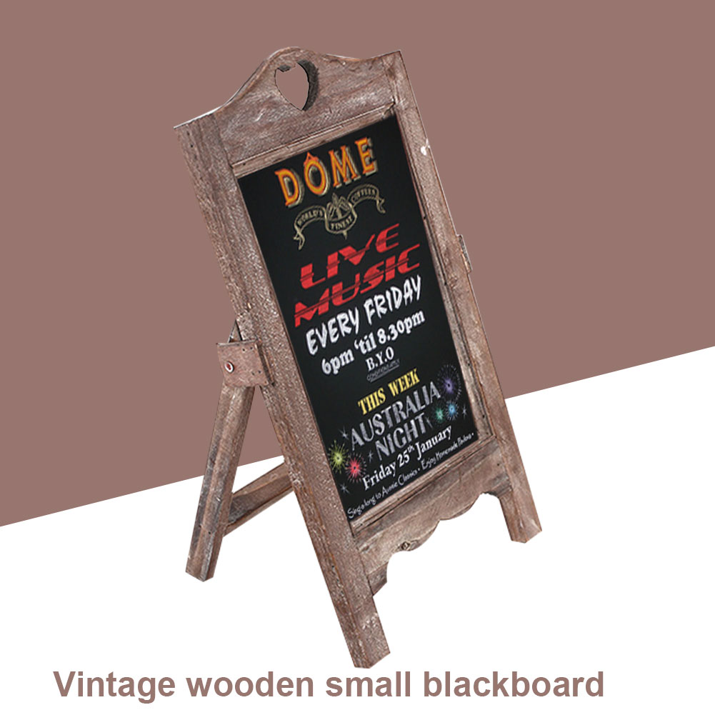 Message Board Single Side Memo Board Home Wooden Small Blackboard Matte Surface Upright