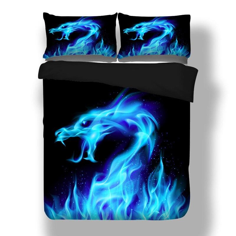 JaneYU 3D Dragon imprimer linge de lit ensembles de literie couette couverture de lit couette galaxie housse de couette reine roi taille literie ensembles doubles