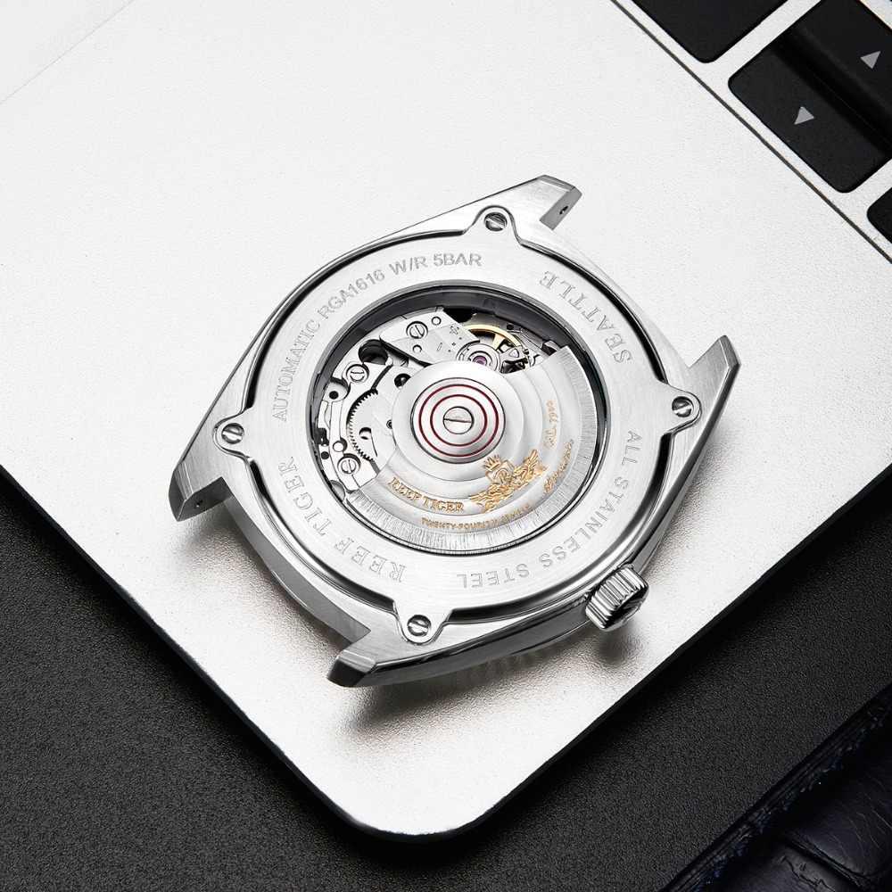 2019 Reef Tiger Automatic Dress Watch Men Top Brand Luxury Watches Reloj Mujer Genuine Leather Watch Relogio Masculino RGA1616