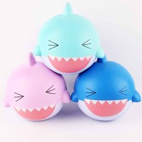 Kawaii Pink Shark For Squishies Jumbo Large Size Slow Rising Soft Squeeze Toy Collection Decor Toy