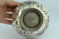 Chinese Rare Collectibles Old Handwork Tibet - Silver bowl metal handicraft