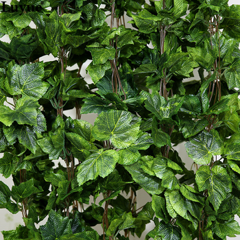 Luyue 10PCS Artificial Silk Grape Leaf Garland Faux Vine Ivy Indoor /Outdoor Home Decor Wedding Flower Green Leaves Christmas