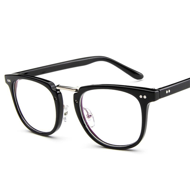 aa38ef131e 2017 Retro Metal With Plastic Spectacle Frame Glasses Round And Flat Mirror  Of The Glasses Frame man For Myopia kly2988
