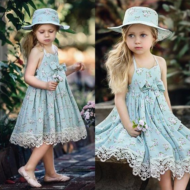 56fa907d0db5 Puseky 2018 Fashion Summer Girl Dresses Wedding Party Children Lace Dress  Quality Toddler Baby Girl Clothes Casual Kids Costume