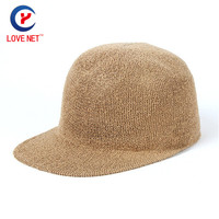 2017 New Casual Name Customized Unisex Wide Brim Hats OEM Polyester Khaki Customized Knitted Hats For