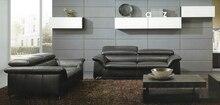 Diseñador estilo moderno top graduado cuero de vaca genuino esquina sofá de la sala set suite muebles para el hogar 2 + 3 plazas