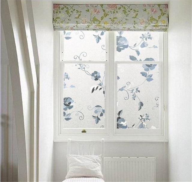 decorative window film mosaic 10m long vine flower film stained glass decorative window privacy self adhesive film static cling