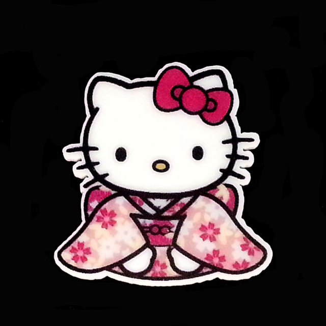 abd436449 40pcs/Lot 34x33mm Hello Kitty Wear Kimono Planar Resin Cabochons Flat Back  Hair Bow Center