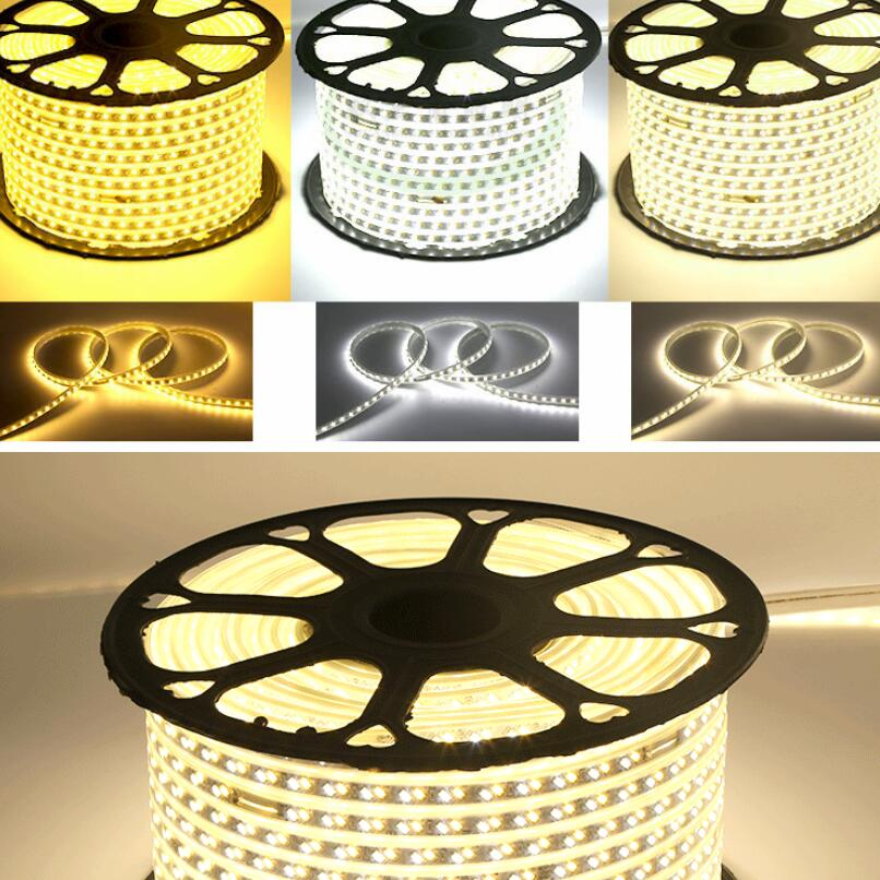 220V 120leds/m dimmable warm white white flexible LED strip 5730 5630 SMD tape light Waterproof for home Decorations - 6