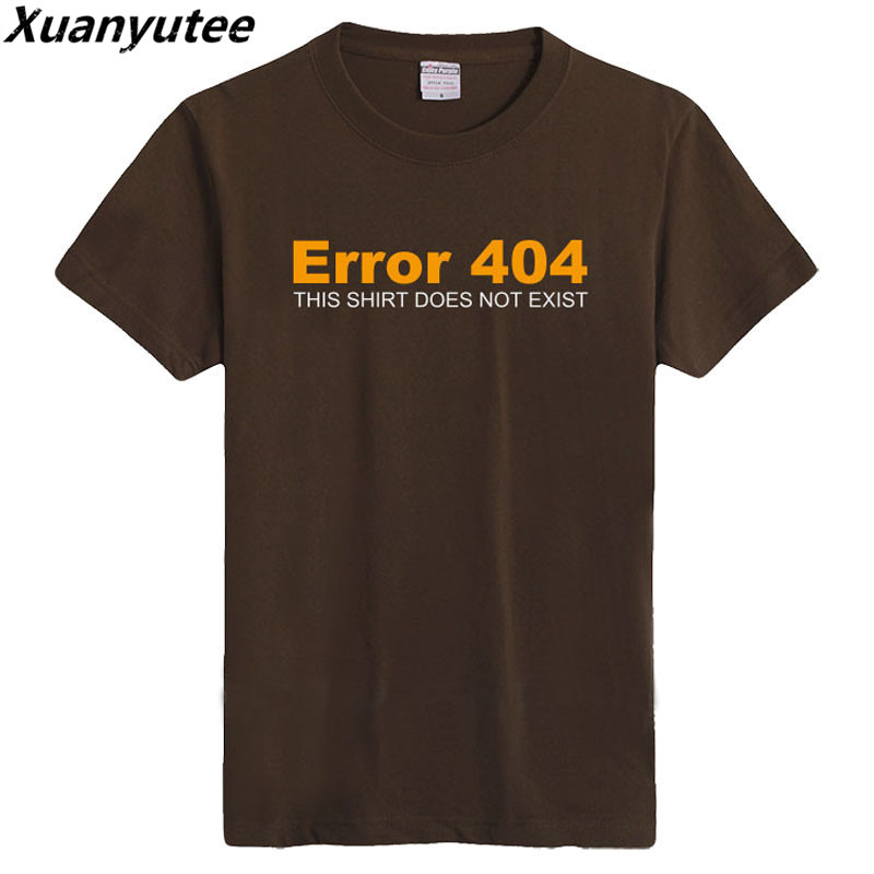 Xuanyutee Geeky Fans Print T-<font><b>shirt</b></font> Men <font><b>Error</b></font> <font><b>404</b></font> This <font><b>Shirt</b></font> Does Not Exist Geeks Fashion Cotton O-neck Short Sleeved Men T <font><b>shirt</b></font> image