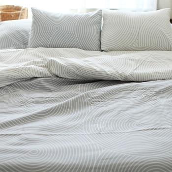 100% Cotton Japan Style King Size AB Duvet Cover Set Without Comforter Home Bedding Sets Stripes Endless Reactive Printing 3pcs