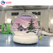 цена на New design giant inflatable snow globe bubble dome tent, white inflatable human snow globe for Christmas