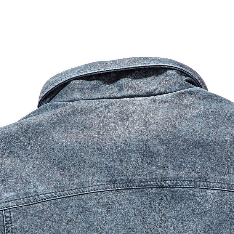 Хит, высокое качество, модная мужская повседневная кожаная куртка плюс бархатная куртка, мужское теплое пальто, пальто