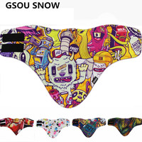 Gsou Snow Unisex Winter Snowboard Ski Mask Bibs Breathable Thermal Fleece Fack Mask Scarf Winter Outdoor Sport Protective Scarf