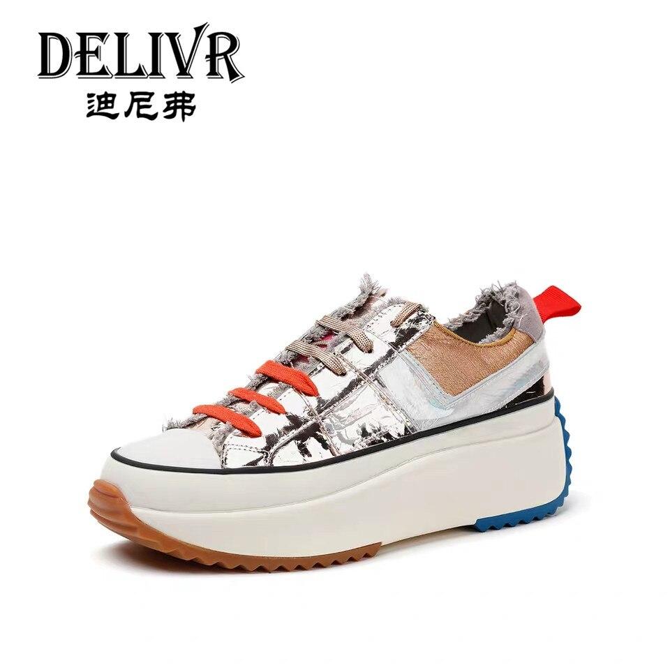 Delivr/Женская Вулканизированная обувь модная обувь на толстой подошве, увеличивающая рост женские кроссовки, ботинки с массивным каблуком, к