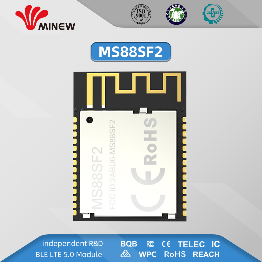 Transmitter Module 2.4ghz Nrf52840 Ble 5.0 Module Receiver Uart Rf Transceiver Long Range Mesh Wireless Minew MS88SF2