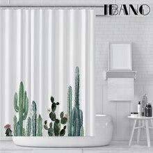 IBANO, тропический кактус, занавеска для душа, водонепроницаемый полиэстер, ткань, занавеска для ванной, для ванной комнаты, украшена 12 пластиковыми крючками