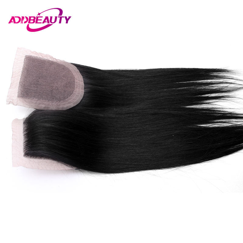 Silk Base Closure Frontal Straight Virgin Brazilian Free Part 4x4 Human Baby Hair 1 PCS Natural Color 10 to 20 Inch