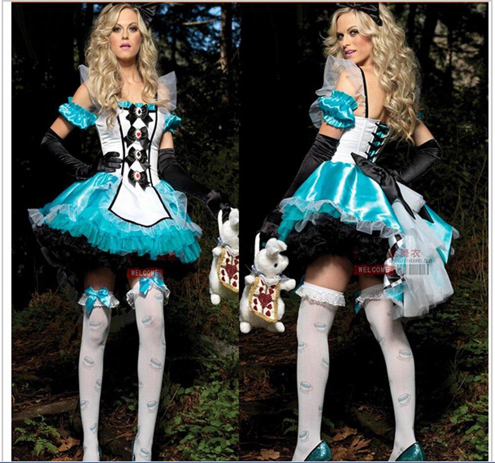 Alice Adventures Costume, Alice Character Mini Dress Costume