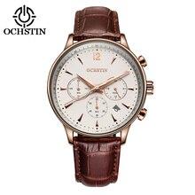 2017 Для мужчин S Бизнес Часы лучший бренд класса люкс Водонепроницаемый хронограф человек кожа Спорт кварцевые наручные часы Для мужчин часы мужской
