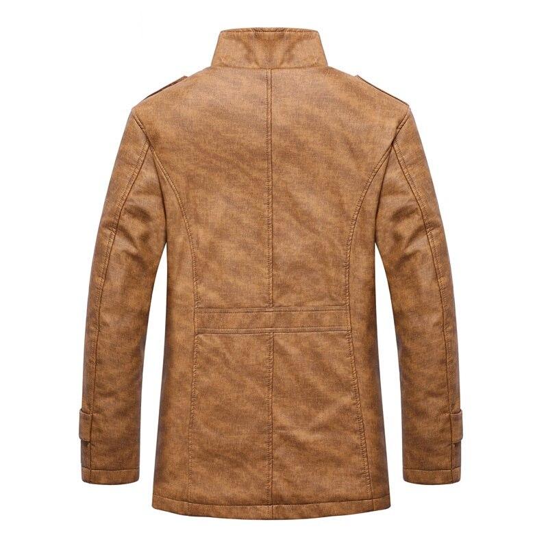 2018 Весенняя Новинка стиль Для мужчин повседневная модная утепленная куртка плащ Для мужчин высокого качества пальто Куртки ветровка полный размер M 4XL - 2