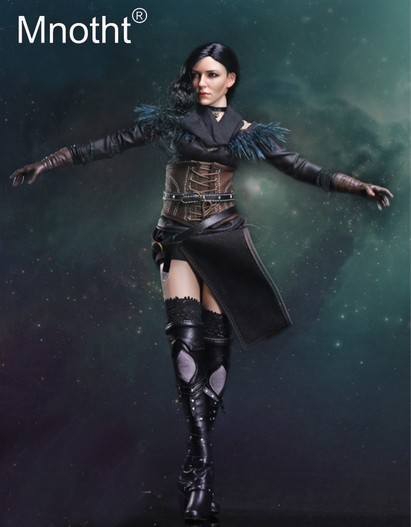1/6 FS011 The Witcher 3 Wild Hunt Yennefer Sorceress female Action Figure Female Soldier Set With Head Sculpt/Body/Leatherboots цена и фото